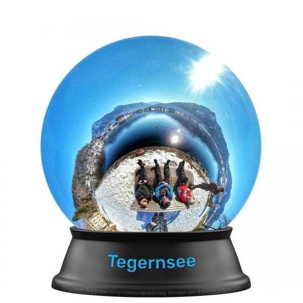 Der Tegernsee als 360° Schneekugel-Panorama (Virtuell)