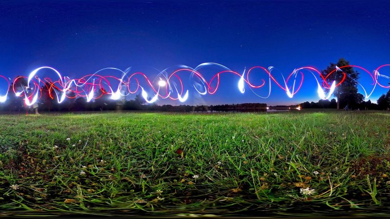360 degrees light painting